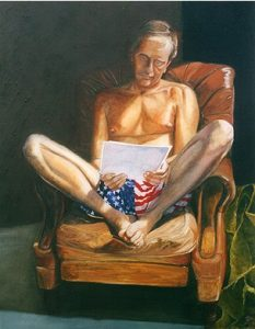Born in the USA | oil on canvas 5 x 4 foot £2000