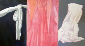 Easter-a study in fabric | Oil on canvas tryptich