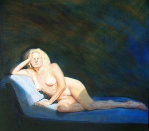 Ruth Series, In sunlight on a chaise longue