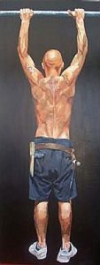Scaffolder-strong feelings | 72x30ins oil on canvas £3000