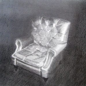 The Empty Chair | Graphite on paper. SOLD