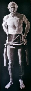 Water Boys 2 | 79 x 29 inch charcoal on cartridge £2000
